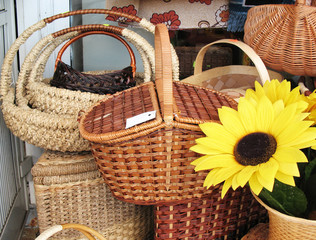Sale of wicker baskets