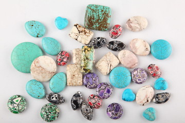 Collection of turquoise gemstones