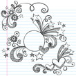 Sketchy Circle Frame Border Doodle Vector