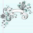 Scroll Ribbon Doodle Vector Design Elements