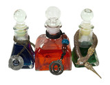 Colorful Potion Bottles With Charms