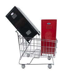 School Lockers in Shopping Cart