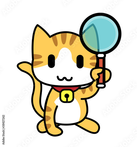 Cat-Magnifying glass