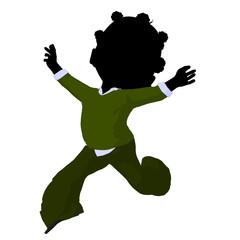 Little African American Business Girl Illustration