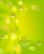 abstract green background with bubbles