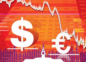Baisse de l'euro face au dollar