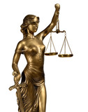 Fototapety Lady of Justice on white background