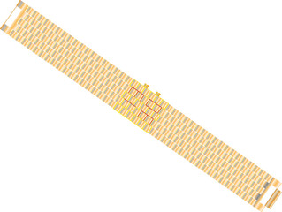 Gold bracelet with Led Digital Light-emitting diode hours