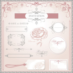 Vector Wedding Set