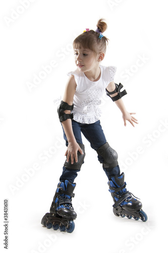 The little girl on roller skates