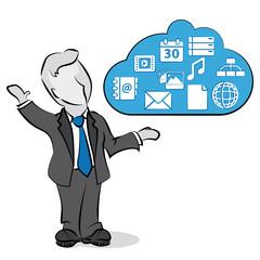 businessman & cloud