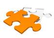 Puzzle, Puzzlestück, Symbol, Ergänzung, orange, Puzzleteil, 3D