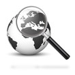 Weltkugel, Erde, Suchfunktion, Lupe, Business, 3D, weltweit, Web