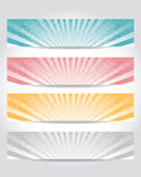 vector set of header design