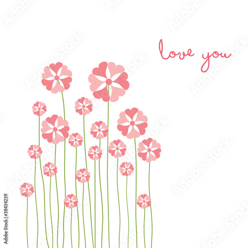 love card with flower