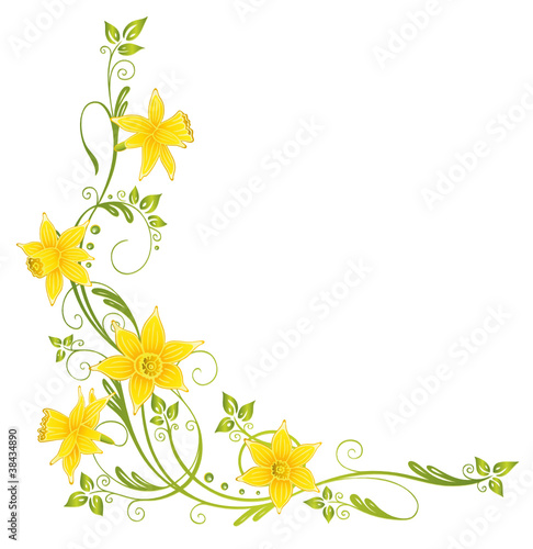 Frühling, Ostern, Ranke, Osterglocken, Narzissen