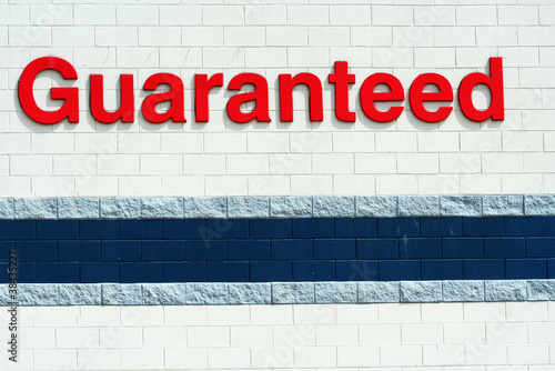 Guaranted sign