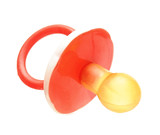 baby silicone pacifier. Isolated on white