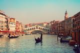 Rialto Bridge and gondolas  in Venice. - 38438000