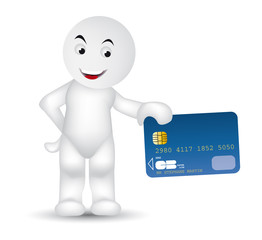 Max with his credit card