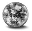 Leinwanddruck Bild - Silver disco mirror ball