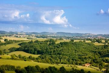 Paysage de France (vers Roanne, Rhône-Alpes)
