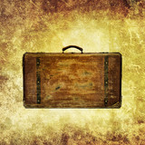 antique suitcase print