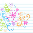 Summer Hibiscus Tropical Doodle