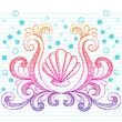 Sketchy Beach Shell Doodle Vector