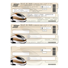 Billet de train modèle de carte