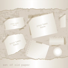 set of old paper