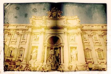 Fontana di Trevi, Roma, libro vecchio