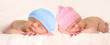 Leinwandbild Motiv Newborn baby twins