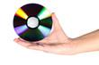 Leinwandbild Motiv cd in hand