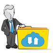 businessman & cloud folder