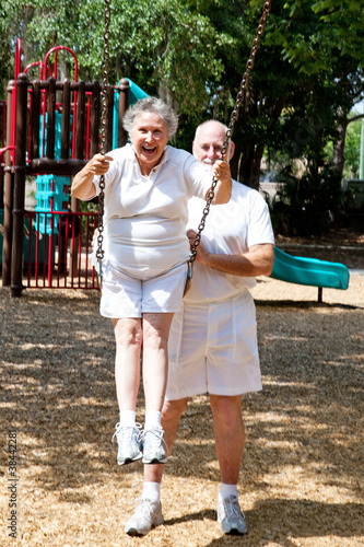 Senior Couple - Playground Fun