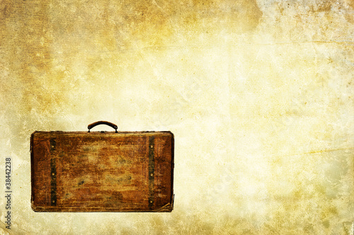 vintage luggage backdrop