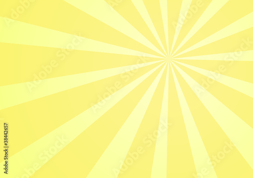 Yellow background with rays