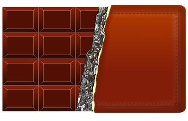 Tafel Schokolade mit Werbefläche