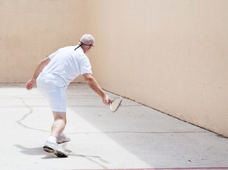 Senior Man on Racquetball Court