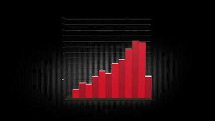 Growth Chart 12 Bars RED