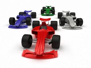 3D rendered Concept formula Cars