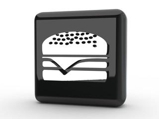 Button Burger schwarz