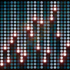 Background with blue circles and lights