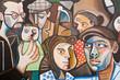 Leinwandbild Motiv Orgosolo Murales Sardegna