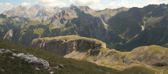 Fassa Valley, view from Eleven peak