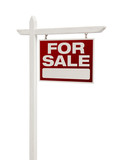 For Sale Real Estate Sign Isolated - Right
