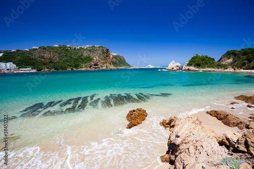 Aluminium Zuid Afrika beach in Knysna, Western Cape, South Africa
