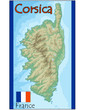 corsica island france map flag emblem
