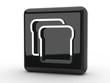 Button Toastbrot schwarz